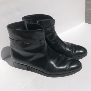 Florsheim Ff logo leather zip side boots